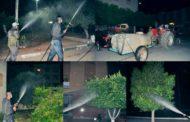 """مصلحة النظافة تواصل عملية رش المبيدات لمحاربة الحشرات الطائرة خاصة """" البعوض"""" (الناموس)"""
