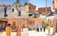 جماعة زايو تعطي إنطلاقة إزالة الأعمدة الكهربائية من وسط الشوارع