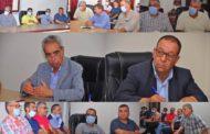 رئيس المجلس يعقد اجتماعا موسعا مع موظفي ورؤساء الأقسام والمصالح الجماعية