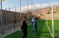 النائب الأول للسيد رئيس جماعة زايو يقوم بزيارة تفقدية لوضعية الملعب الجماعي لمدينة زايو